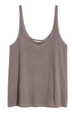 Cotton jersey vest top - Mole -  | H&M 2