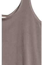 Cotton jersey vest top - Mole -  | H&M 3