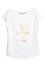 Jersey top - White - Ladies | H&M 2