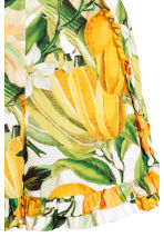 Playsuit - White/Yellow patterned -  | H&M CN 4