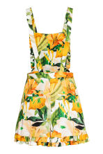 Playsuit - White/Yellow patterned - Ladies | H&M CN 3