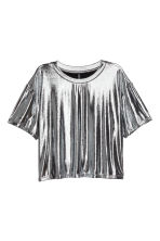 Metallic top - Silver - Ladies | H&M CN 2