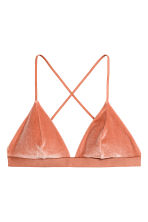 Crushed velvet bikini top - Rust - Ladies | H&M CN 1