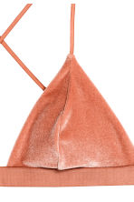 Crushed velvet bikini top - Rust - Ladies | H&M CN 2