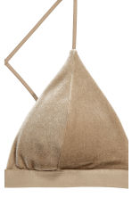 Crushed velvet bikini top - Dark beige - Ladies | H&M 3