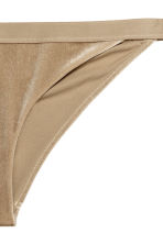 Crushed velvet bikini bottoms - Dark beige - Ladies | H&M CA 2