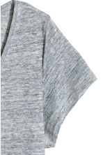 H&M+ V-neck linen top - Grey marl - Ladies | H&M 3
