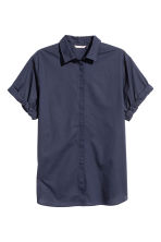 H&M+ Short-sleeve cotton shirt - Dark blue - Ladies | H&M 2
