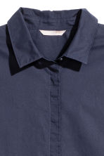 H&M+ Short-sleeve cotton shirt - Dark blue - Ladies | H&M 3