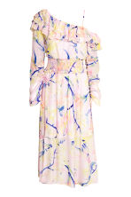 One-shoulder dress - Light pink/Floral - Ladies | H&M CN 2