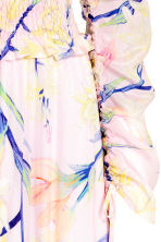 One-shoulder dress - Light pink/Floral - Ladies | H&M CN 3