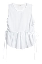 Sleeveless cotton top - White - Ladies | H&M CN 2