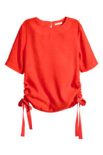 Blouse with drawstrings - Red - Ladies | H&M CN 2