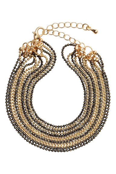 Multistrand bracelet - Black/Gold - Ladies | H&M 1
