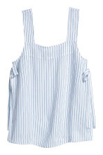 Strap top with ties - Light blue/Striped - Ladies | H&M CN 2