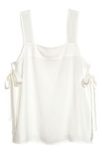 Strap top with ties - White - Ladies | H&M CA 2