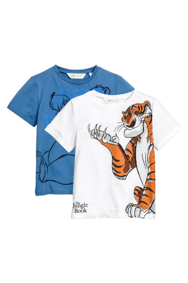 Set van 2 T-shirts - Wit/The Jungle Book - KINDEREN | H&M NL 1