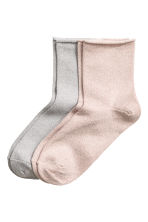 2-pack glittery socks - Old rose - Ladies | H&M 1