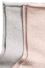 2-pack glittery socks - Old rose - Ladies | H&M CN 2