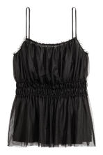Mesh strappy top - Black - Ladies | H&M 2