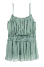 Mesh strappy top - Dusky green - Ladies | H&M 2