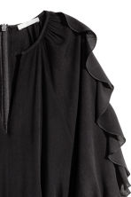 Playsuit with balloon sleeves - Black - Ladies | H&M CN 3
