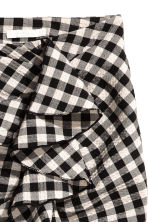 荷葉邊短裙 - Black/White/Checked - Ladies | H&M 3