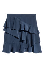 Flounced skirt - Dark blue - Ladies | H&M CN 2