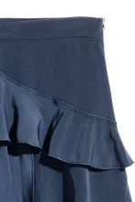 Flounced skirt - Dark blue - Ladies | H&M CN 3