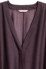 Silk-blend kaftan - Plum - Ladies | H&M 4