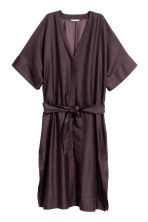 Silk-blend kaftan - Plum - Ladies | H&M 2
