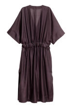Silk-blend kaftan - Plum - Ladies | H&M 3