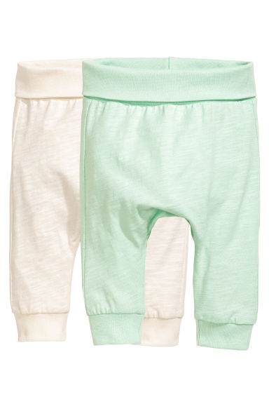 2-pack jersey trousers - Mint green - Kids | H&M CA 1