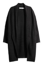 Rib-knit cardigan - Black - Ladies | H&M CN 2