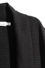 Rib-knit cardigan - Black - Ladies | H&M 3