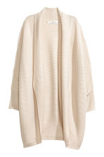Rib-knit cardigan - Light beige - Ladies | H&M CN 2
