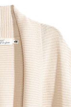 Rib-knit cardigan - Light beige - Ladies | H&M CN 3