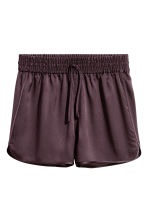 Silk shorts - Plum -  | H&M 2