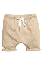Jersey shorts - Beige/Spotted - Kids | H&M 1