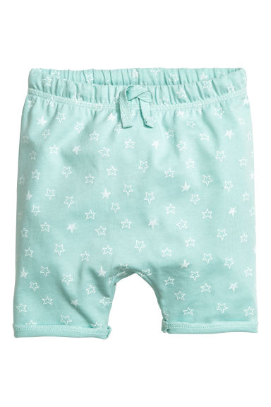 平紋短褲 - Mint green/Stars - Kids | H&M 1