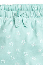 Jersey shorts - Mint green/Stars - Kids | H&M CN 2
