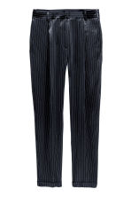 Pinstriped suit trousers - Dark blue/Striped - Ladies | H&M 2