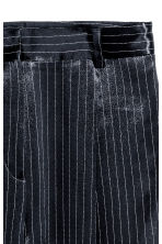 Pinstriped suit trousers - Dark blue/Striped - Ladies | H&M 3