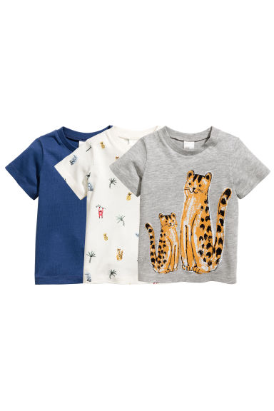 Lot de 3 T-shirts - Bleu - ENFANT | H&M FR