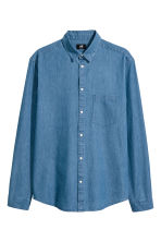 Denim shirt Regular fit - Denim blue - Men | H&M CN 2