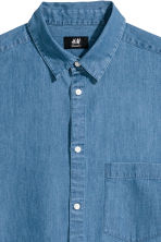 Denim shirt Regular fit - Denim blue - Men | H&M 3