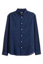 Denim shirt Regular fit - Dark denim blue -  | H&M CN 2