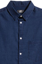 Denim shirt Regular fit - Dark denim blue -  | H&M CN 3