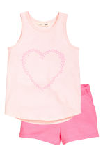 Vest top and shorts - Light pink/Heart - Kids | H&M IE 3