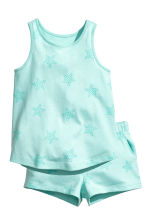 Vest top and shorts - Mint green - Kids | H&M 2